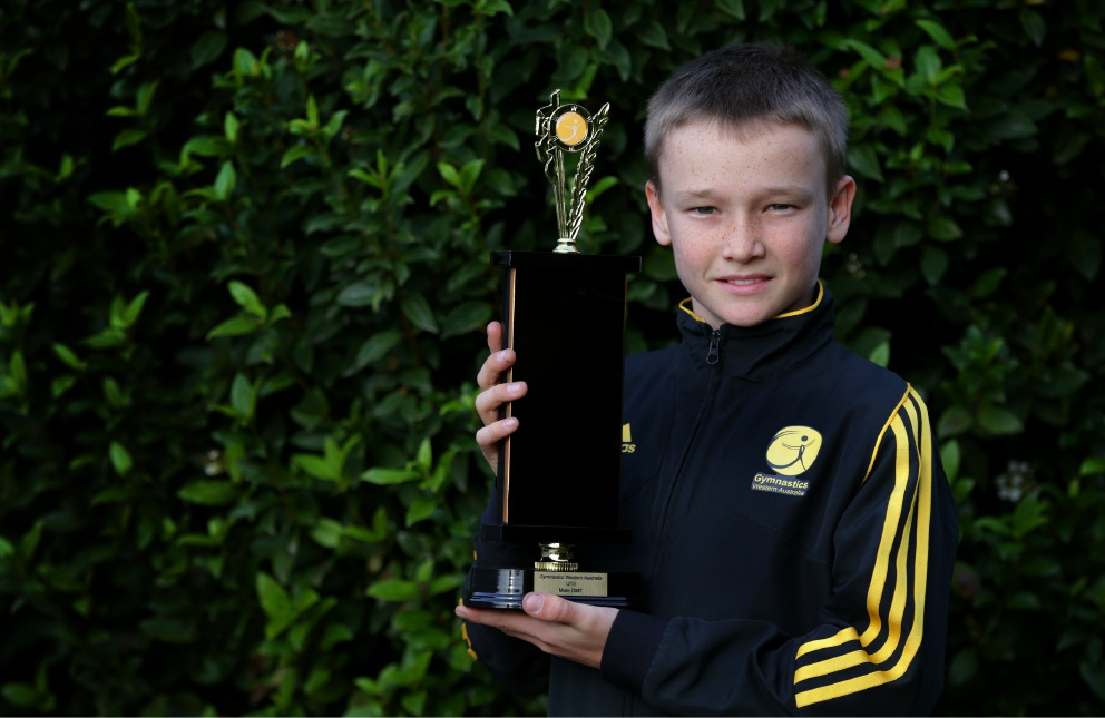 Trampolinist Dylan Nolan wants to move on to bigger and better competitions. Picture: Martin Kennealey www.communitypix.com.au   d454080
