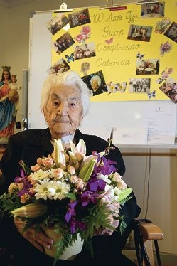 Caterina Catalano celebrated her 100th birthday in style earlier this month. Picture: Emma Reeves www.communitypix.com.au d409203