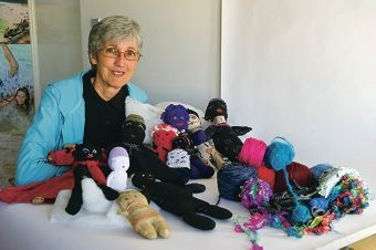 Wendy Lugg focuses on recycling and will hold workshops to create sock dolls.