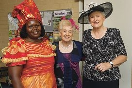 From Left: Frida Yugusuk, Joyce Brooks, Wendy Gidney. St Mary Magdalene Anglican Church hosted a Melbourne Cup Lunch