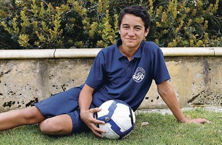 Young soccer star Orton Raumati has been selected for the Perth Glory U14 team. Picture: Elle Borgward www.communitypix.com.au d410858
