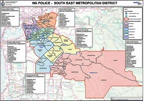 New police subdistrict boundaries for the Frontline 2020 model.