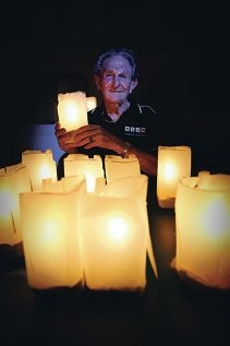 Les Pike, a former City of Bunbury councillor, will put up Christmas lights around his retiement village. Picture: Andrew Ritchie d410618