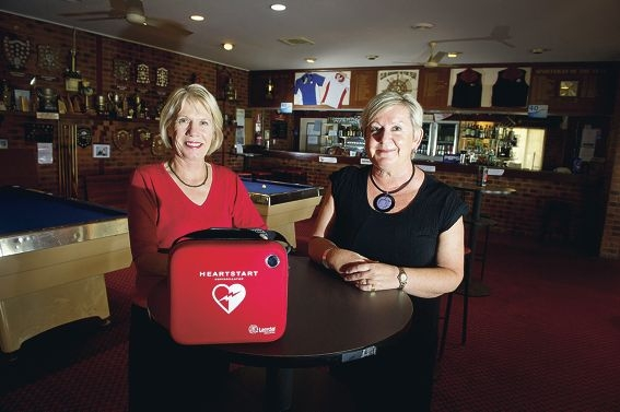 Community First Responder System manager Sally Simmonds and Rosina de la Mare, of Ocean Reef Sea Sports Club. Picture: Emma Reeves d410390