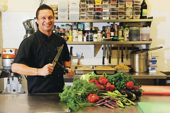 Shop near home says iron chef Herb Faust.