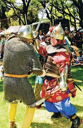 Medieval Saxons will cross swords in York next weekend.