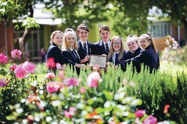 Mt Lawley SHS Year 10 students Jadviga Kobryn-Coletti, Clara Lee, Chaz Carrington-Wilson, James De Lore, India Hickey, Olivia Sandri and Megan Farmer. Picture: Andrew Ritchie d410079