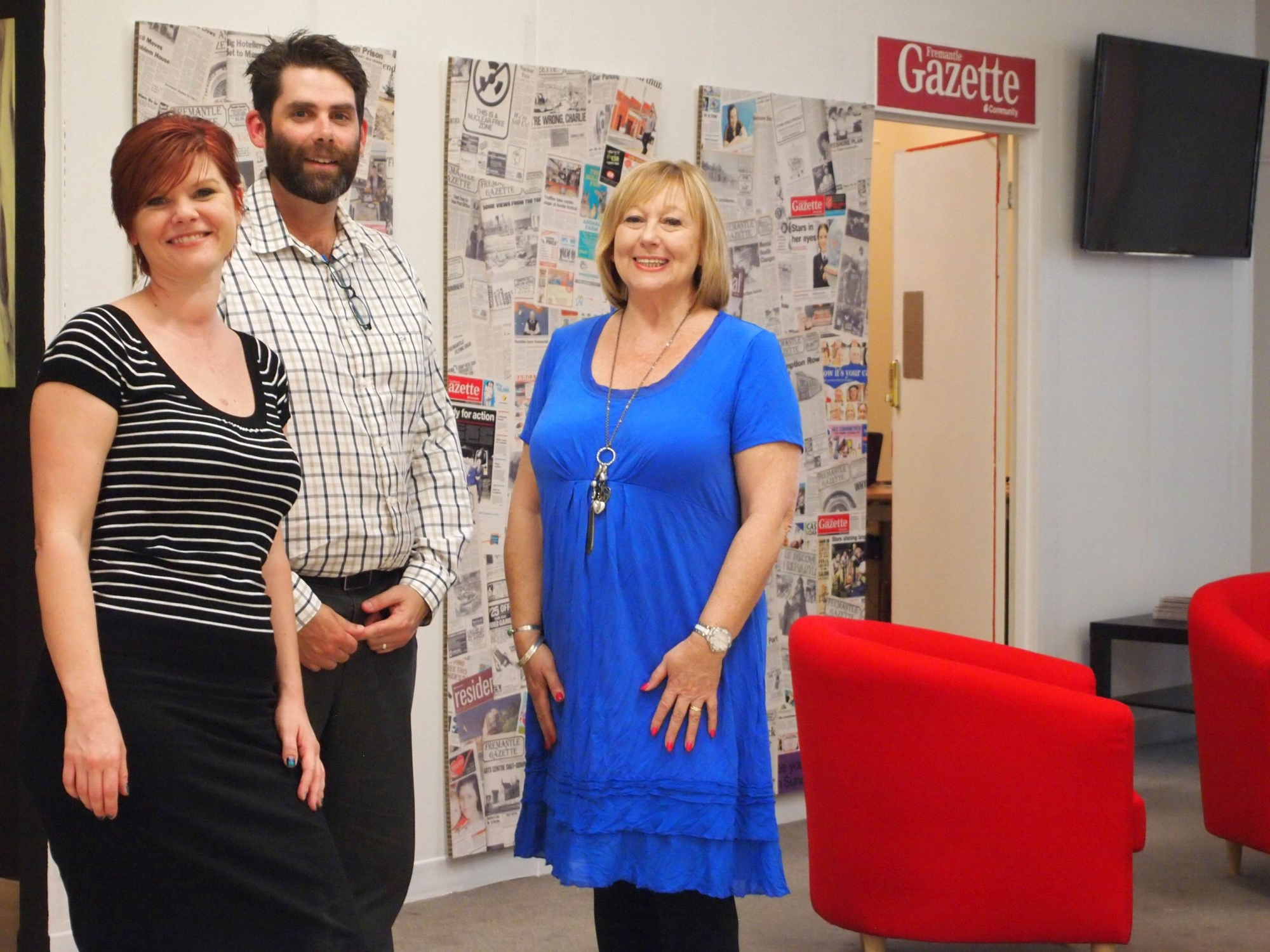 Gazette editor Rachel Watts, sales manager Nathan Wayne and senior sales executive Stephanie Cole.