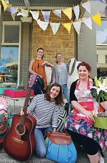 Locals Pippa Neilson, Sarah Bell, Kirstie Pinto and Summer Adams get ready. Picture: Elle Borgward