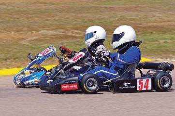 Bailey Grech (55) and Calan Williams (54) go head to head. Picture: Brad Mitchell