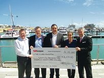 Local businesses give charity a boost