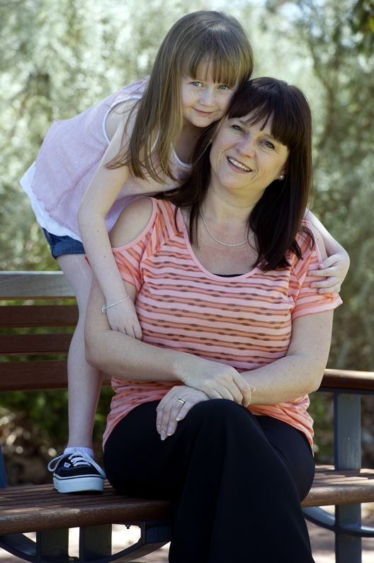 Mandy Wyer with her gallant daughter Katrina who has a major liver condition. Picture: Emma Reeves www.communitypix.com.au d409438