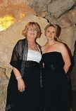 Heather Jarvis and Claire Barrow organised the Black and White Ball for Telethon in Cabaret Cave. Picture: Pip Carboon