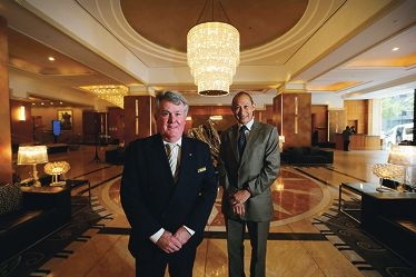 Duxton Hotel general manager Bruce Doig and architect Ross Sta Maria .