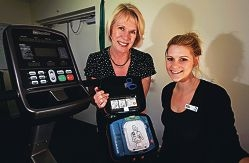 Community First Responder System manager Sally Simmonds and exercise physiologist Rachel Halleen. Picture: Elle Borgward d409248
