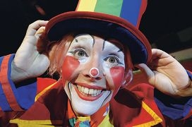 Goldie the Clown is ready to make you laugh at Circus Joseph Ashton.