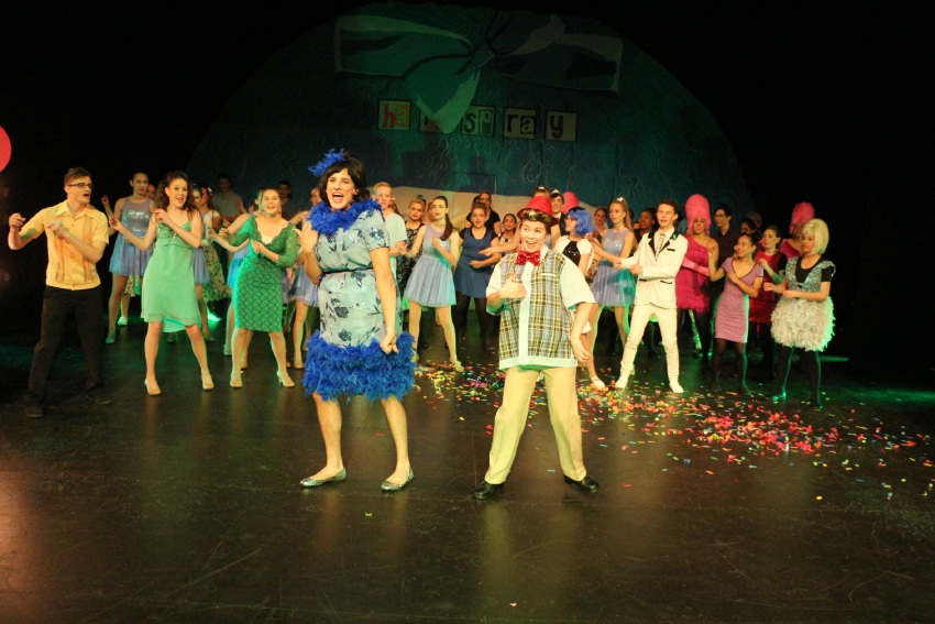 Cast members of Hairspray by Lumen Christi College.