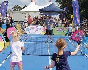 Test your skill at tennis club blitz