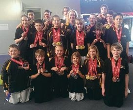 The winning Taekwondo Oh Do Kwan team.