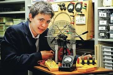Shenton College Year 12 student and budding electrical engineer Henry Kemp.
