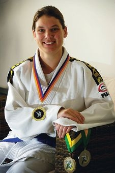 Melissa Prins has an intellecutal disability, but she has managed to win a major judo competition