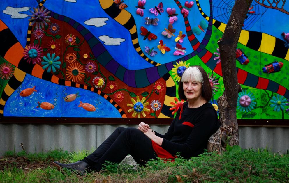 Art therapist Dianne Smith at Victoria Park Centre for the Arts. Picture: Marie Nirme www.communitypix.com.au   d454277
