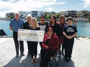 Mindarie Marina staff donated funds to the Spina Bifida and Hydrocephalus Association recently.