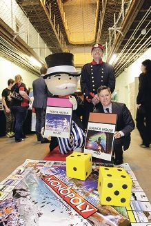 Fremantle Mayor Brad Pettitt at the launch of the Perth edition of Monopoly. Picture: Martin Kennealey d408932