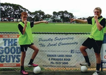 Lewis Manning and Bailey Mullins will referee the Summer Fives.