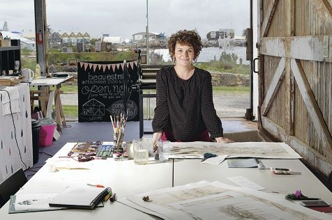Magali Dincher at her new J Shed studio. Picture: Martin Kennealey www.communitypix.com.au d409221
