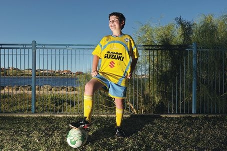 Young soccer star James McWhinnie.
