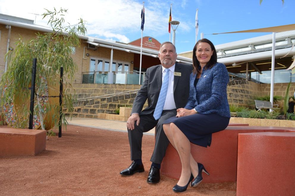 Mayor Giovanni Italiano with Deputy Premier Liza Harvey.