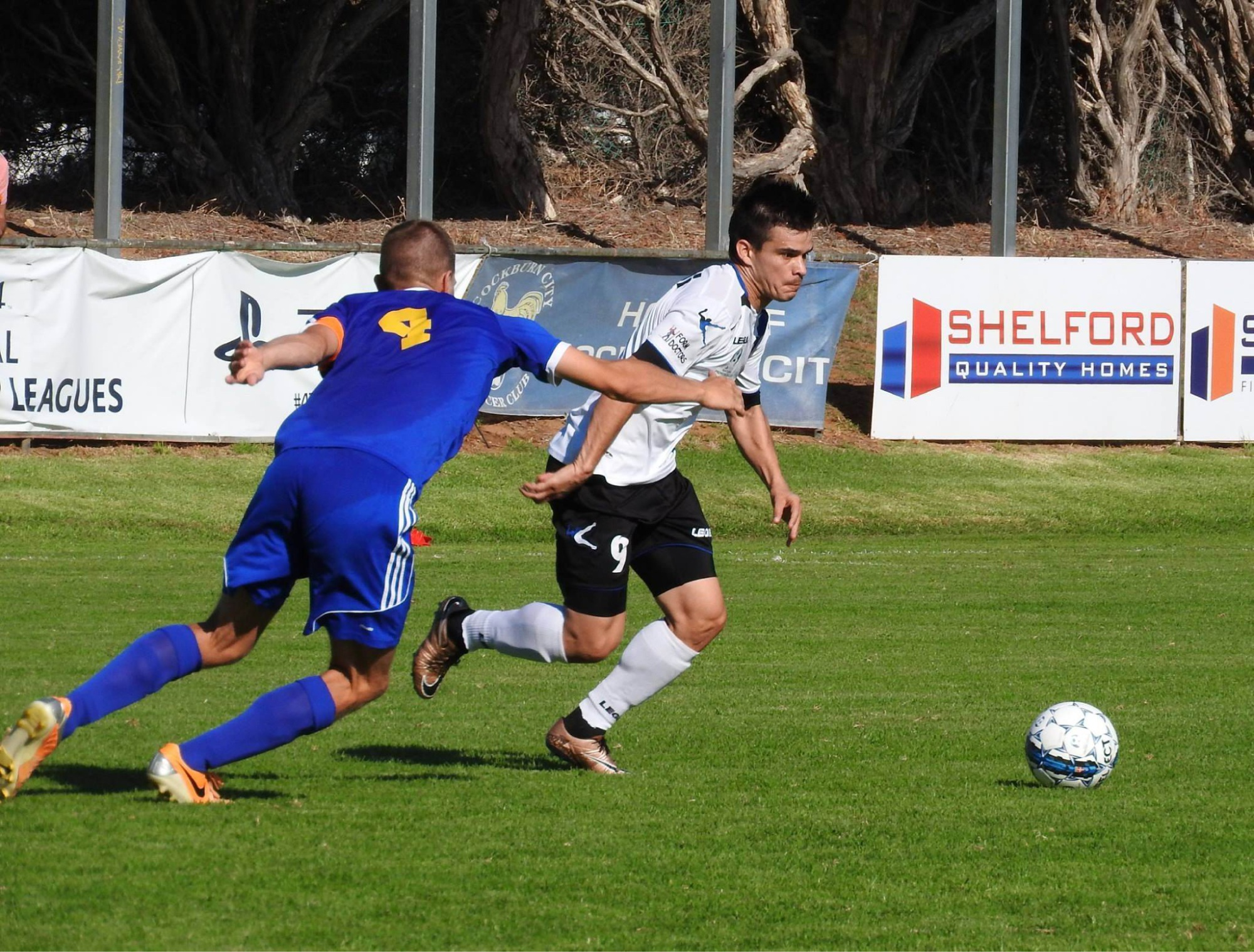 Lewis McMahon scored a hat-trick for Floreat Athena to help it defeat Armadale. Picture: Football West