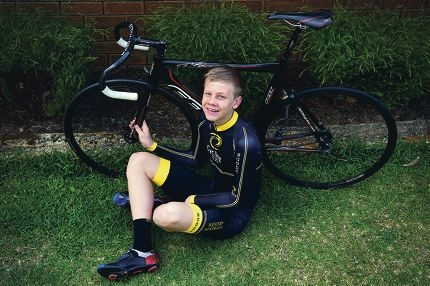 Kye Bonser (14) has been nominated as an HBF junior sports hero for his cycling success. Picture: Emma Reeves d409023