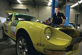 Simon Lingford with his trusty Datsun 240z Picture: Emma Reeves d408831