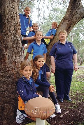 City Beach Girl Guides leader Claire White, AKA Brown Owl, with girl guides Kirsten Petterson, Zara Newton, Bella Corner, Ruby Corner, Victoria Lawson and Charlotte O'Beirne.