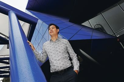 Future Perth chairman Sean Morrison outside the Perth Arena . Picture: Marcus Whisson d408632