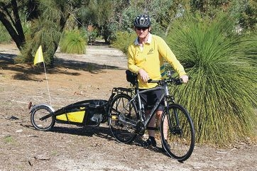 Bas Smith will support himself the entire 2761km trip, towing a trailer that holds 32kg of supplies.