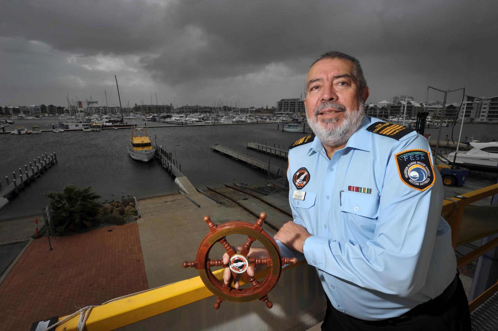 WA Volunteer Marine Rescue vice- commander Roger Martin. Picture: Jon Hewson www.communitypix.com.au d408453