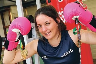 Boxer Caitlin 'the Terminator' Parker has her sights set on competing at the Olympics. Picture: Marcelo Palacios www.communitypix.com.au d408765