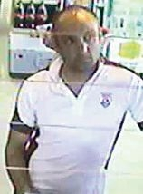Police wish to speak with this man about the use of a credit card.