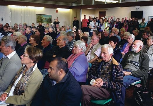About 250 residents attended the 'Stay in Stirling' rally on Sunday.