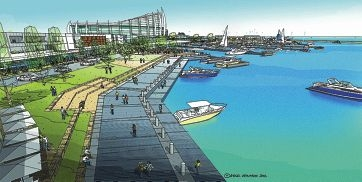 An artist's impression of the planned Ocean Reef Marina, which has been the subject of community forums held recently.