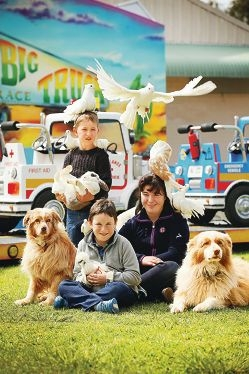 Jared (6), Curtis (8) and Mikaela Light (11) have five dogs at home and enjoy the animals at the Perth Royal Show most.