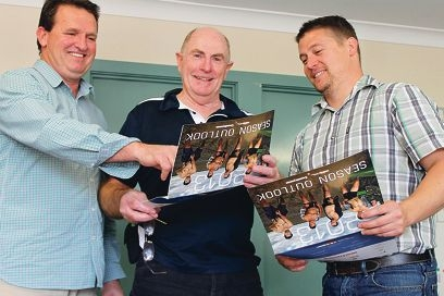 Positive outlook: Wheatbelt Men's Health team members Owen Catto, Terry Melrose and Tim Carew-Reid.