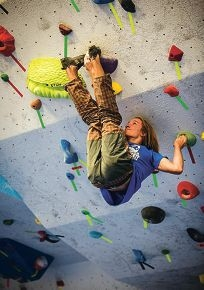 Martin Kuhnel is excelling in rock-climbing |competitions.