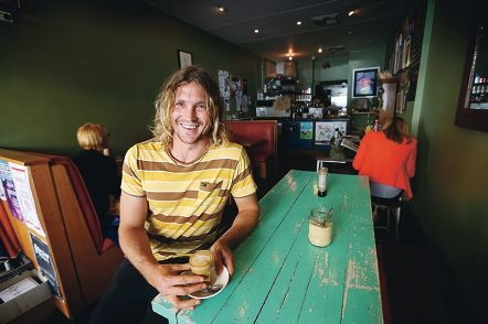 Little Willy's co-owner Rob Mayberry expressed a little embarrassment over his quirky but aptly-named café on William Street. Picture: Andrew Ritchied408170