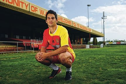Dean Evans (23) has been selected to play for Perth Glory Football Club. Picture: Marcus Whisson d407794