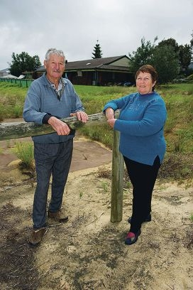 Mick and Judy Garbin have plans to build a house on their property but within an existing buffer zone. Picture: Emma Reeves d408181