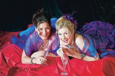 Penny Shaw and Fiona Cooper Smyth star in DivaLicious, which combines comedy, opera and pop to accompaniments by WA Opera pianist Tommaso Pollio.